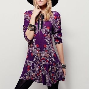 FREE PEOPLE - Smooth Talker Floral Print Tunic